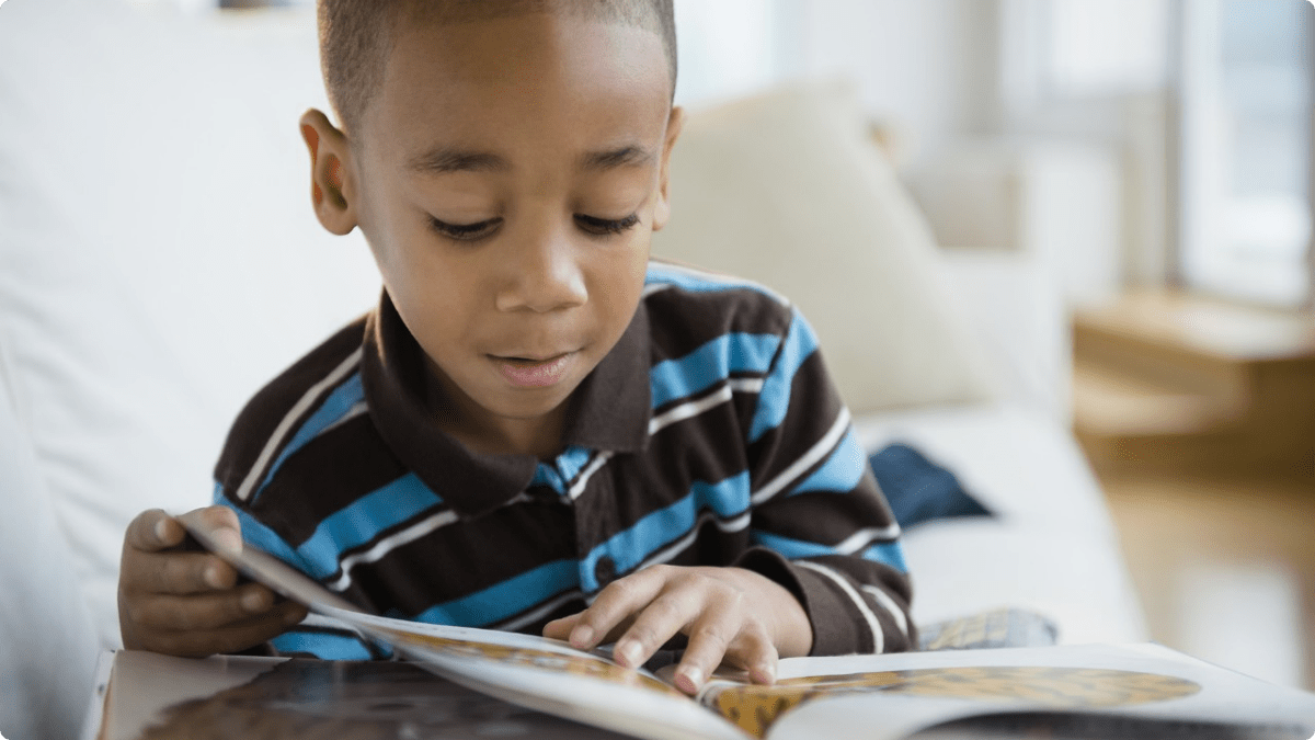 Black Child Reading